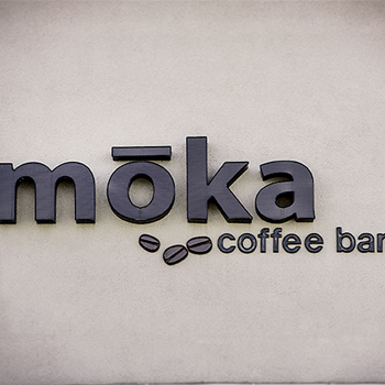 Moka Coffee Bar sign photo
